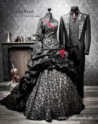 vintage gothic brautkleid