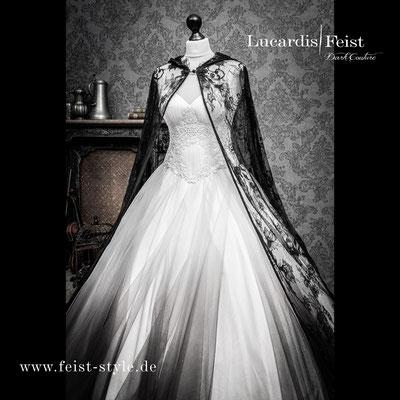 Schwarzes Brautkleid, Gothic Braut