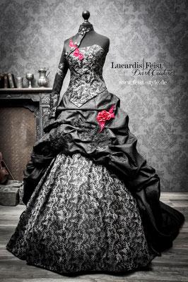 schwarzes gothic brautkleid