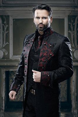 schwarz roter anzug