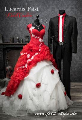 extravagantes vintage brautkleid, rockabilly hochzeitskleid