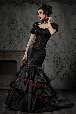 hochzeitskleid in schwarz