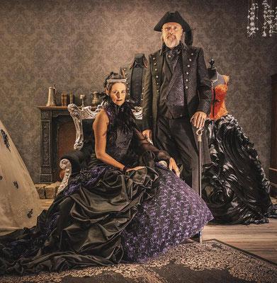 viktorianischen Gehrock, Vintage Anzug, Extravaganter Anzug
