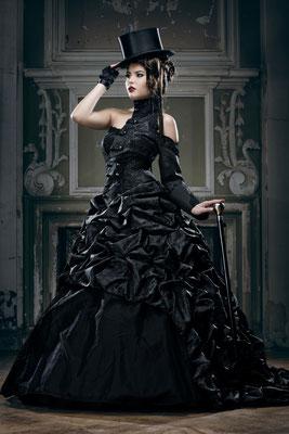 gothic brautkleid, steampunk hochzeit