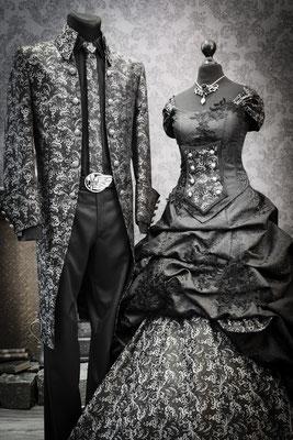 biker brautkleid, schwarzes brautkleid