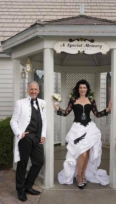 schwarz weiß Brautkleid, Ausgefallene Brautmode