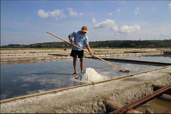Salzgewinnung in Portorož ;                                copyright: Destination Portorož und Piran