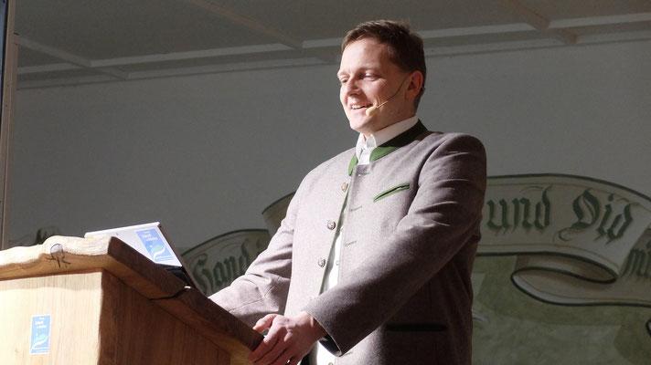Simon Frank während seiner spannenden Präsentation
