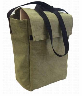 Брезентовая сумка c клапаном на липучке и ручкой для вещей/документов