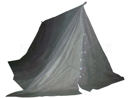 Двухскатная палатка сварщика из брезента с огнестойкой пропиткой на застежках-бобышках