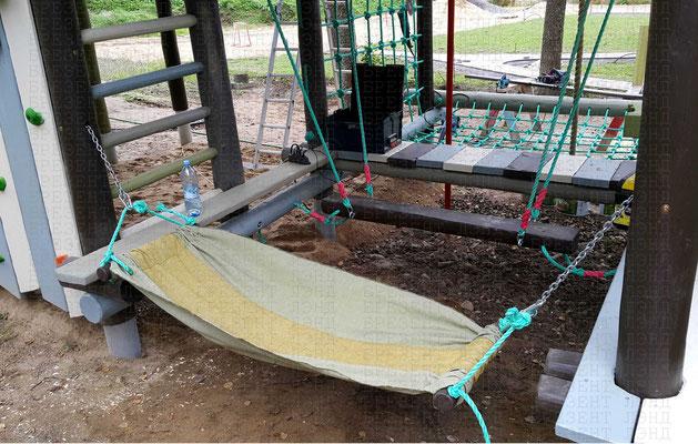 Разноцветный брезентовый гамак на детскую площадку
