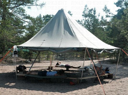 Брезентовый непромокаемый шатер для детской Приключенческой Программы «Экспедиция Бъерки»