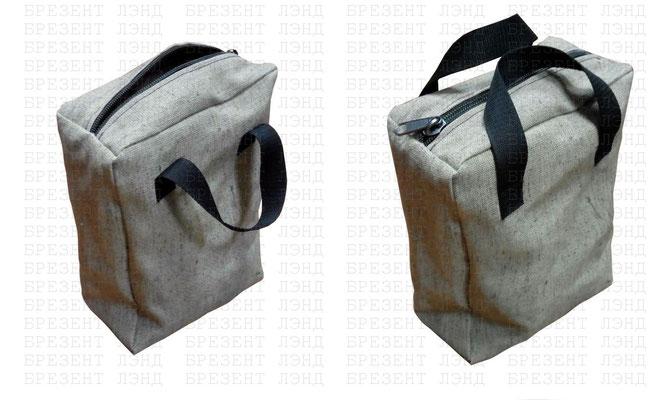 Брезентовая сумка с ручками на молнии для документации.