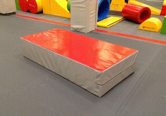 Чехол из ткани ПВХ на прочной молнии на мат спортивный гимнастический.