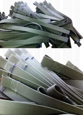 Тяги для спортивного зала из брезентовой ленты шириной 35 мм.