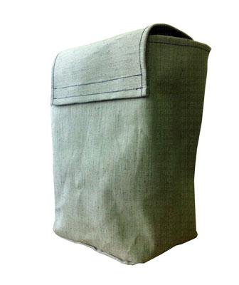 Брезентовая сумка c клапаном на липучке для вещей