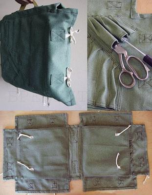 Складная сумка-портфель из брезента для инструментов