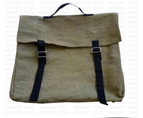 Сумка-портфель брезентовая для документов