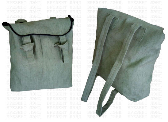 Брезентовый рюкзак с огнестойкой пропиткой для переноски взрывоопасных веществ