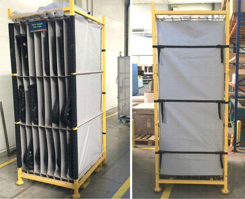 Тканевые вкладыши в технологические тележки (используются для транспортировки материалов на конвеерных производствах)