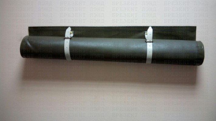 Непрозрачная шторка на окно из ткани ПВХ на ремешках (светомаскировочная шторка на окно)