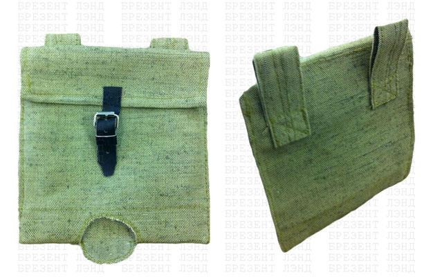 Брезентовый сумка-чехол для саперной лопатки