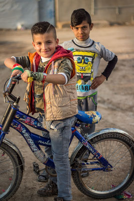 Syrian children in the refugee camp Domiz in Kurdistan/Iraq. March 2017.
