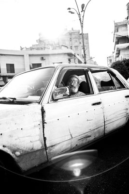Muslim taxi driver in Tripoli, Lebanon, June 2018.