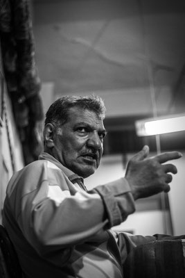 Iranian sports coach in Isfahan, Iran. March 2017.