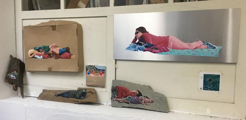 Malereiinstallation, Juni 2018)
