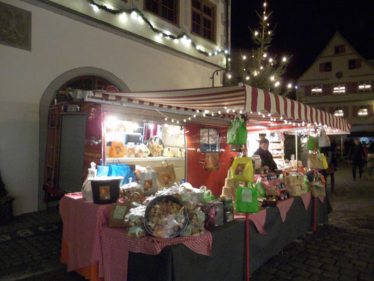 Weihnachtsmarkt Wangen 2016 bei Nacht