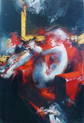 Sofà rosso, 95x140 cm