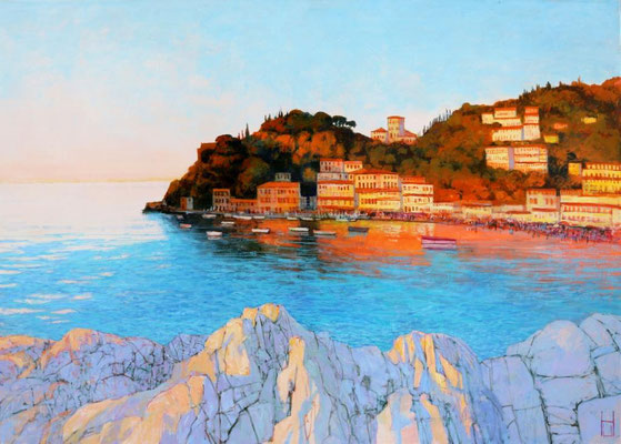 Strand bei Taormina, 100x140 cm