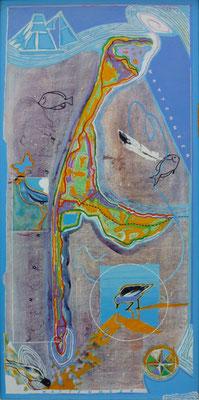 Vogelwelt Sylt, 60x120 cm
