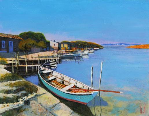 Boote bei Sète, 70x90 cm