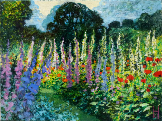 Garten mit Fingerhüten, 30x40 cm