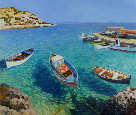 Boote in Sizilien, 100x120 cm