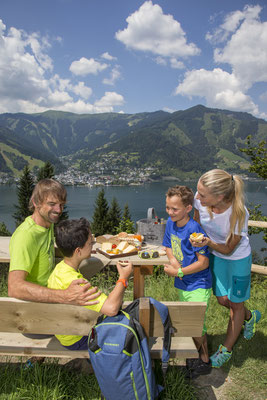 Familienjause am Berg Zell am See