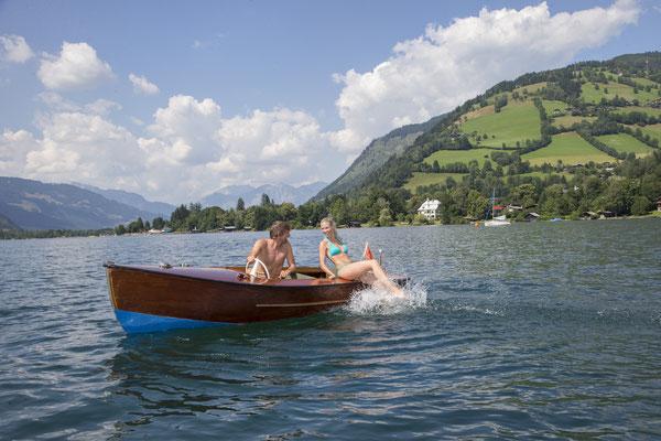 Zeller See mit Boot
