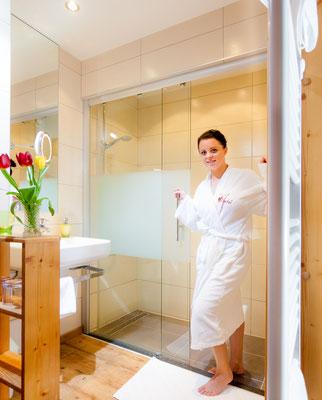 Badezimmer Hotel Mitteregger