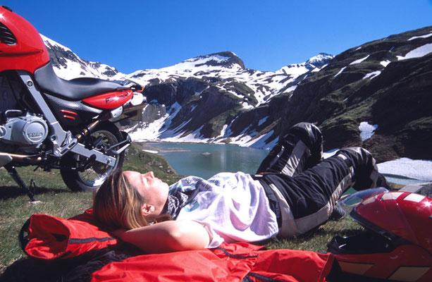 Pause mit Motorrad Zell am See