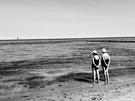 Two old ladies and the Sea - Baltic Sea
