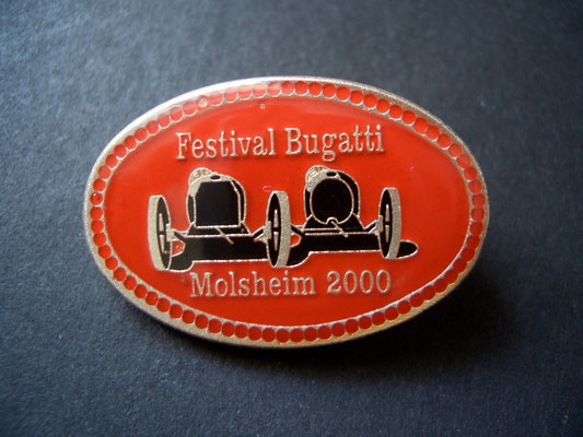 Festival BUGATTI Molsheim 2000 Brosche