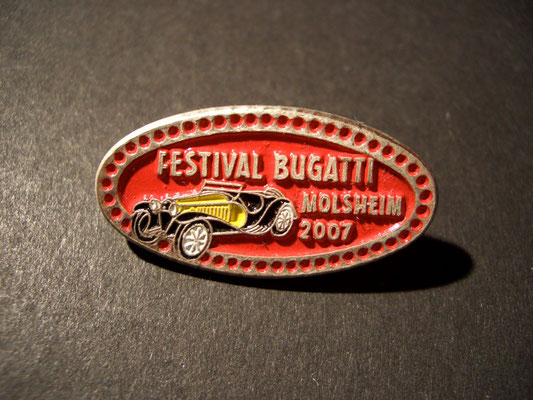 Festival BUGATTI Molsheim 2007 Brosche