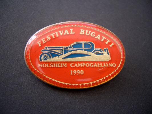 Festival BUGATTI Molsheim Campogalliano 1990 Brosche