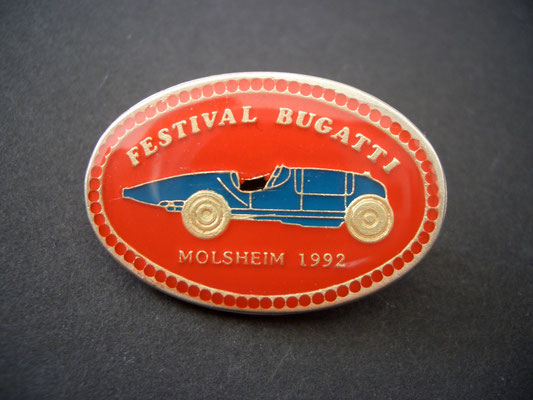 Festival BUGATTI Molsheim 1992 Brosche