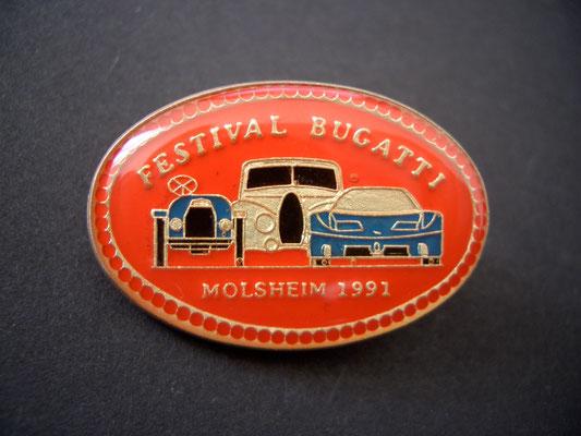 Festival BUGATTI Molsheim 1991 Brosche