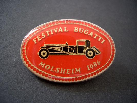 Festival BUGATTI Molsheim 1986 Brosche