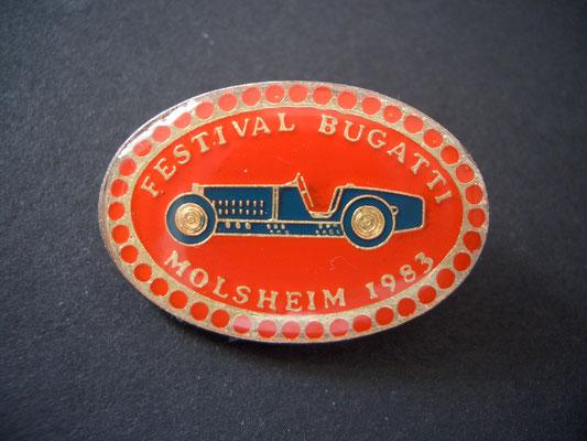 Festival BUGATTI Molsheim 1983 Brosche