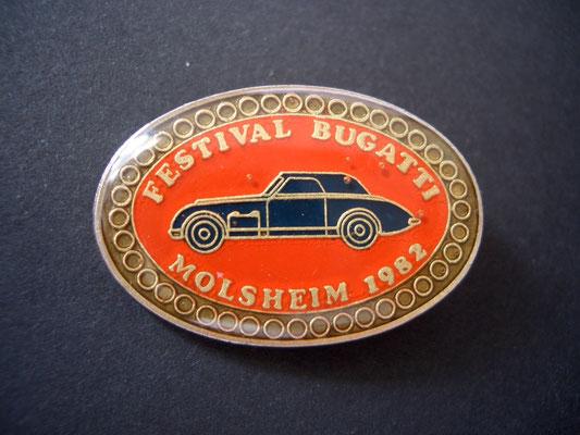Festival BUGATTI Molsheim 1982 Brosche